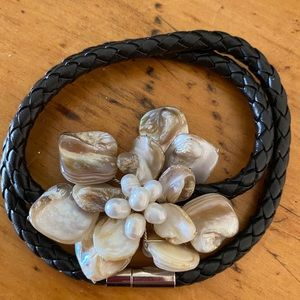New Shell Necklace or Wrapped Bracelet Handmade